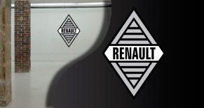 Stickers logo Renault année 60 (PARADISE Déco)