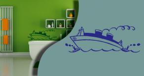 Stickers bateau 1 (PARADISE Déco)