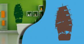 Stickers bateau 2 (PARADISE Déco)