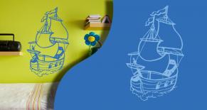 Stickers bateau 5 (PARADISE Déco)