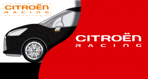 Stickers citroen racing monochrome (PARADISE Déco)