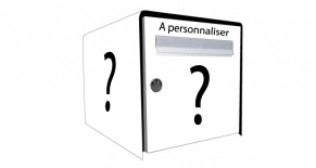 Stickers boite aux lettres personnalisable (PARADISE Déco)