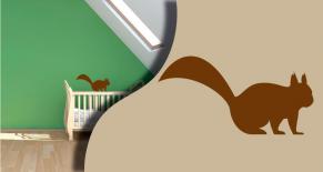 Stickers ecureuil 2 (PARADISE Déco)