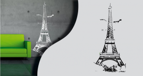 Stickers tour Eiffel 4 (PARADISE Déco)