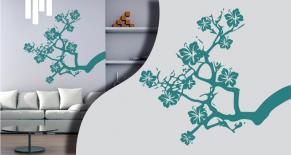 Stickers branche fleurie (PARADISE Déco)