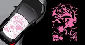 Stickers toit Citroen DS3 roses (PARADISE Déco)