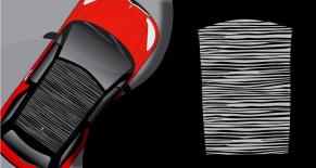 Stickers toit DS3 rayures (PARADISE Déco)