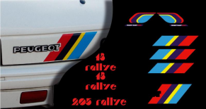 Stickers Peugeot 205 rallye (PARADISE Déco)