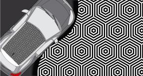 Stickers toit citroen DS3 optik (PARADISE Déco)