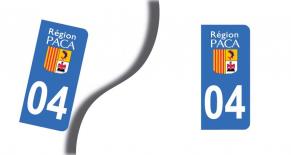 Stickers plaque d'immatriculation département des Alpes de Haute Provence (PARADISE Déco)