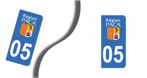 Stickers plaque d'immatriculation département des hautes alpes (PARADISE Déco)