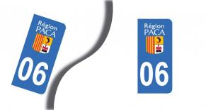 Stickers plaque d'immatriculation département des alpes-maritimes (PARADISE Déco)