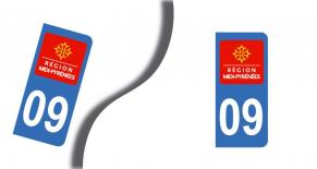 Stickers plaque d'immatriculation département de l'ariège (PARADISE Déco)