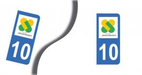 Stickers plaque d'immatriculation département de l'aube (PARADISE Déco)