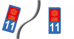Stickers plaque d'immatriculation département de l'aude (PARADISE Déco)