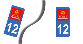 Stickers plaque d'immatriculation département de l'aveyron (PARADISE Déco)