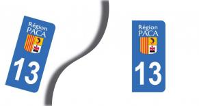 Stickers plaque d'immatriculation département des bouches du rhones (PARADISE Déco)