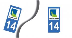 Stickers plaque d'immatriculation département du calvados (PARADISE Déco)
