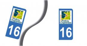 Stickers plaque d'immatriculation département de la charente (PARADISE Déco)