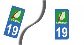 Stickers plaque d'immatriculation département de la corrèze (PARADISE Déco)