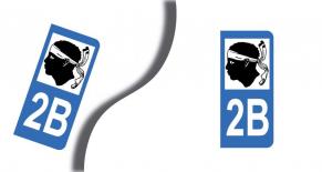 Stickers plaque d'immatriculation département de  corse (haute corse) (PARADISE Déco)