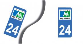 Stickers plaque d'immatriculation département de dordogne (PARADISE Déco)
