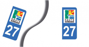 Stickers plaque d'immatriculation département de l'eure (PARADISE Déco)