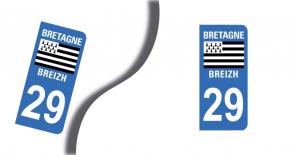 Stickers plaque d'immatriculation département du finistere (PARADISE Déco)