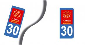 Stickers plaque d'immatriculation département du gard (PARADISE Déco)