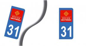 Stickers plaque d'immatriculation département de haute garonne (PARADISE Déco)