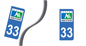 Stickers plaque d'immatriculation département de gironde (PARADISE Déco)