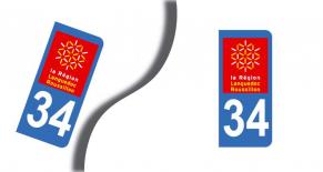 Stickers plaque d'immatriculation département de l'herault (PARADISE Déco)