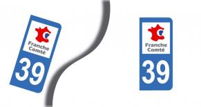 Stickers plaque d'immatriculation département du jura (PARADISE Déco)