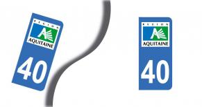 Stickers plaque d'immatriculation département des landes (PARADISE Déco)