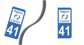 Stickers plaque d'immatriculation département de loir et cher (PARADISE Déco)