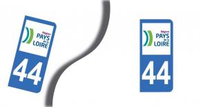 Stickers plaque d'immatriculation département de loire atlantique (PARADISE Déco)