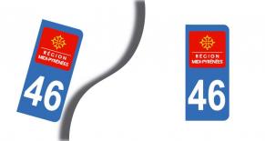 Stickers plaque d'immatriculation département du lot (PARADISE Déco)