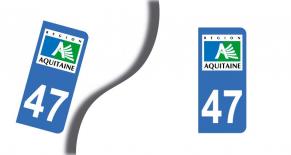 Stickers plaque d'immatriculation département du lot et garonne (PARADISE Déco)