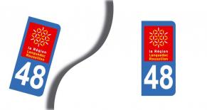 Stickers plaque d'immatriculation département de lozère (PARADISE Déco)