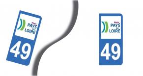 Stickers plaque d'immatriculation département du  maine et loire (PARADISE Déco)