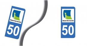 Stickers plaque d'immatriculation département de la manche (PARADISE Déco)