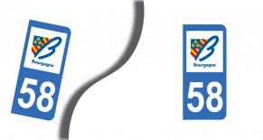 Stickers plaque d'immatriculation département de la nievre (PARADISE Déco)
