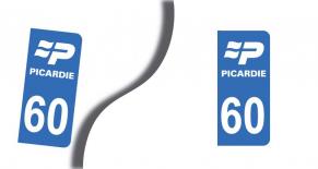 Stickers plaque d'immatriculation département de l'oise (PARADISE Déco)