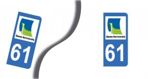 Stickers plaque d'immatriculation département de l'orne (PARADISE Déco)