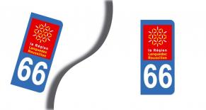 Stickers plaque d'immatriculation département des pyrenees orientales (PARADISE Déco)