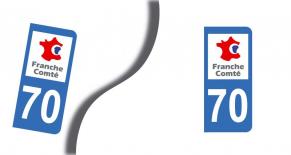 Stickers plaque d'immatriculation département de haute saone (PARADISE Déco)