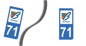 Stickers plaque d'immatriculation département de saone et loire (PARADISE Déco)