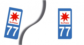 Stickers plaque d'immatriculation département de seine et marne (PARADISE Déco)