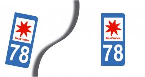 Stickers plaque d'immatriculation département des yvelines (PARADISE Déco)