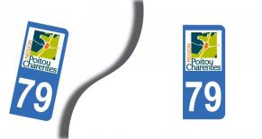 Stickers plaque d'immatriculation département des deux sèvres (PARADISE Déco)